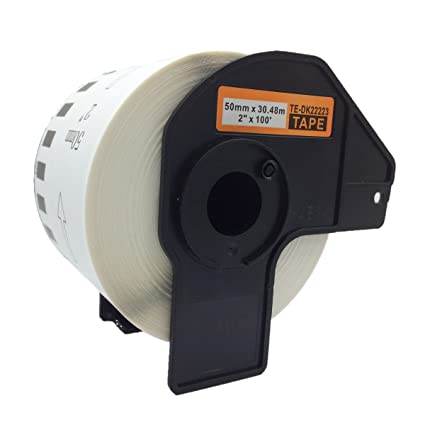 QL580 QL550 2x compatible Etiquetas continuas DK22205 blanco para Brother impresora de etiqueta QL1050 // QL1060 // QL500 QL700 QL560 QL720 // 62mm x 30.48m QL650 QL570 QL710