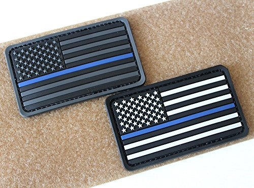 Jacket Hannah (Hannah fit American Flag Soft 3D PVC Rubber US USA American Flag Patch Velcro(2x3.5 inch) (Thin Blue line+Thin red line))
