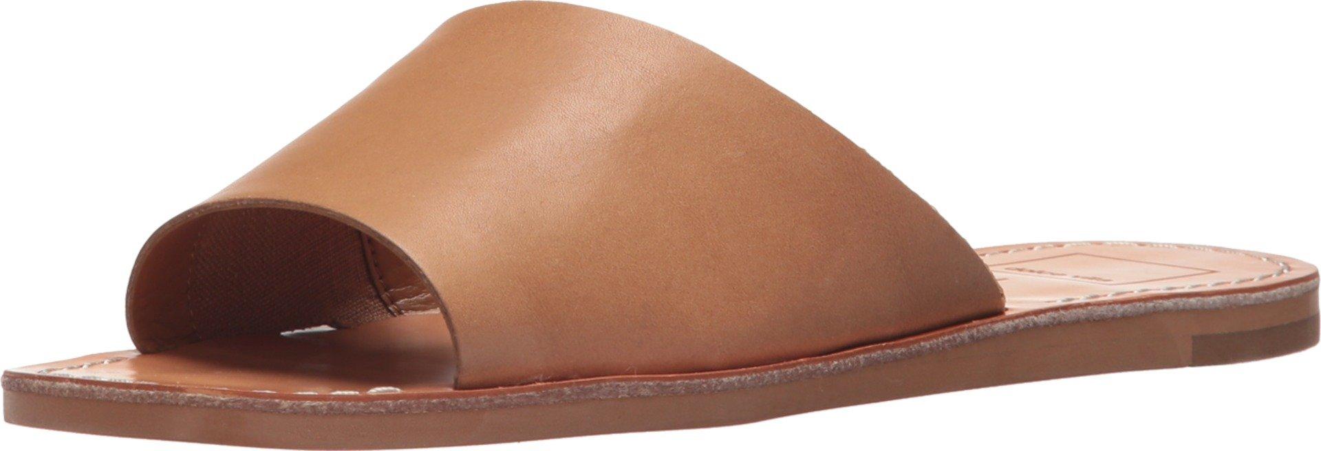 Dolce Vita Women's Cato Slide Sandal, Caramel Leather, 8.5 M US