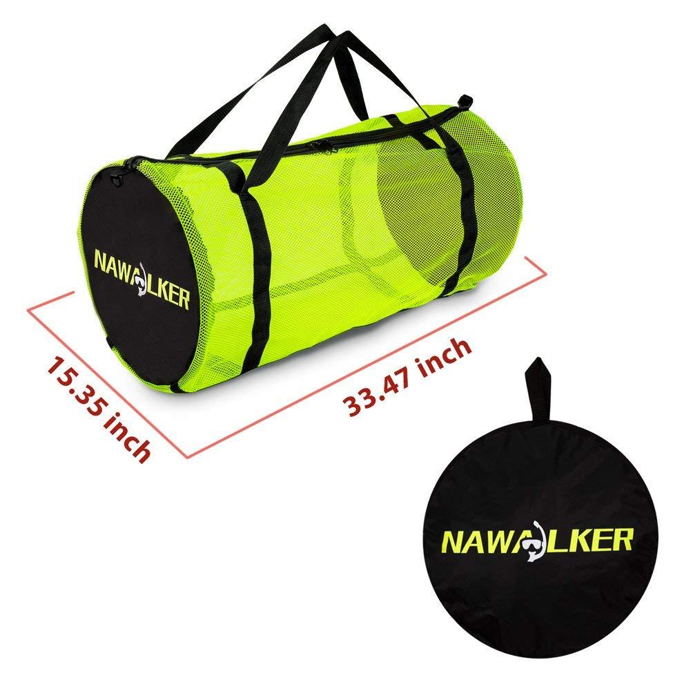 Amazon.com: nawalker malla bolsa de buceo bolsa de equipo de ...