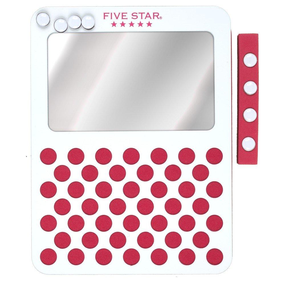 Five Star Locker Mirror and Board, Magnetic, Push Pin, School Locker Accessories, 6 x 8, Berry Pink/Purple (73537) 6 x 8 ACCO Brands