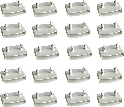 XIAONAN 54-55 mm 20 piezas de repuesto para lamas de cama, de plástico, blanco, de 54 mm de ancho x 9 mm de altura (tamaño interior), para camas ...