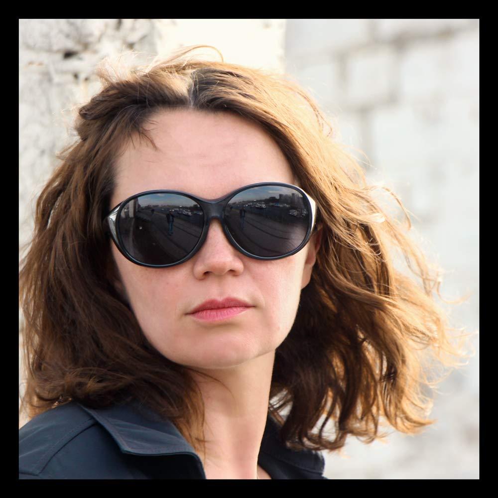 Gafas polarizadas  32 g para Coche y Bicicleta Gafas de Sol polarizadas para Poner Encima de Las Gafas UV400 Gafas sobre Gafas ActiveSol Gafas superpuestas Mega para se/ñora