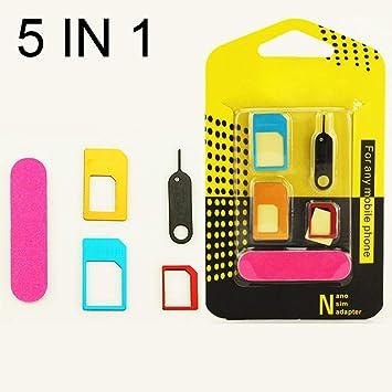 OSAYES 5 en 1 Nano adaptadores Doble Tarjeta SIM Micro de la ...