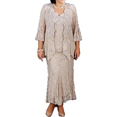 Shinegown Mutter Des Brautigams Kleider 3piece Spitzen Langefur Den