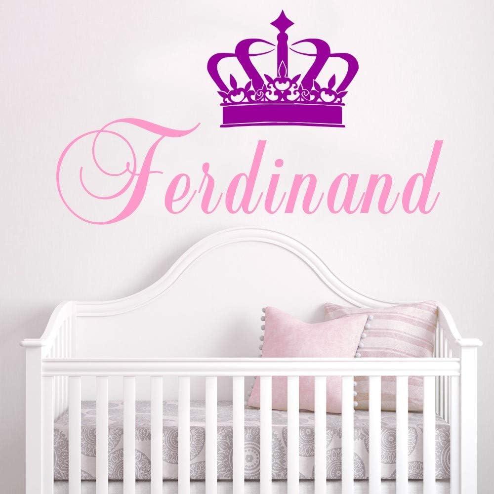 Ajcwhml Nombre de niña Personalizado Etiqueta de la Pared Corona ...