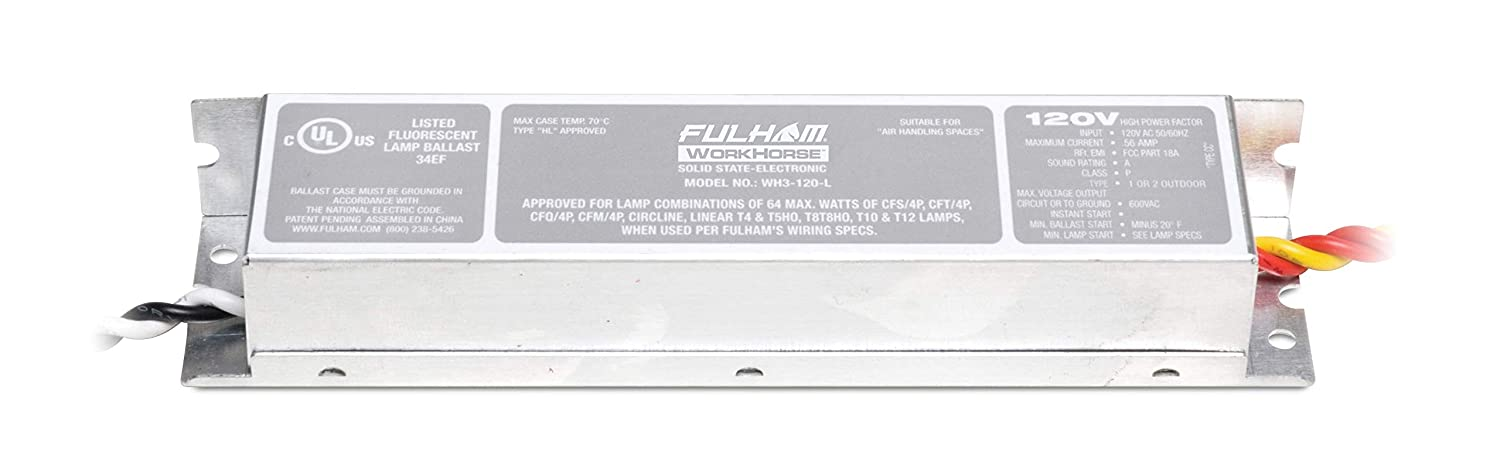 Amazon.com: Fulham Lighting WH3-120-L 10496 Ballast lamp: Home ... on wiring diagram for f96t12, 4 wire ballast to 5 wire ballast, wiring diagram for electronic ballast, wiring diagram for emergency ballast, wiring diagram for sign ballast,
