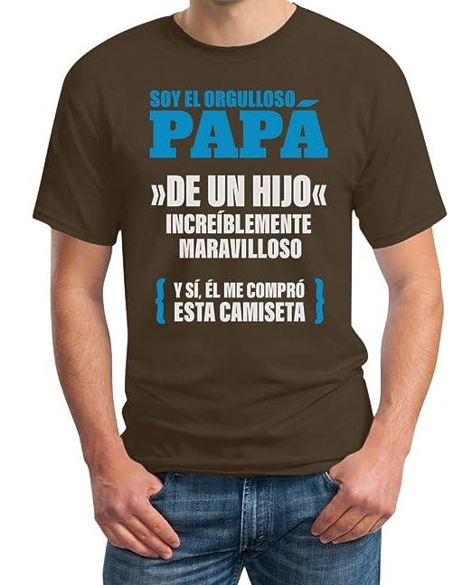 Shirtgeil Papá de un Hijo increíblemente - Regalo para el Padre Camiseta Hombre XX-Large Marrón: Amazon.es: Ropa y accesorios