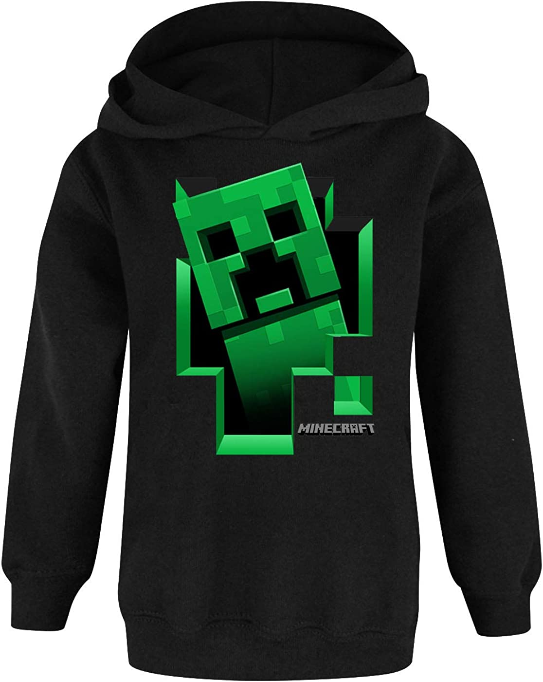 Minecraft Creeper Inside Boys Green Hoodie