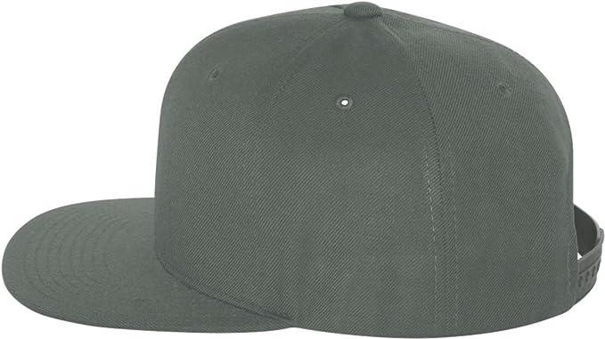 Amazon.com  Yupoong Wool Blend Flat Bill Snapback Cap. 6089M - Dark ... 7f9bd24e0bf