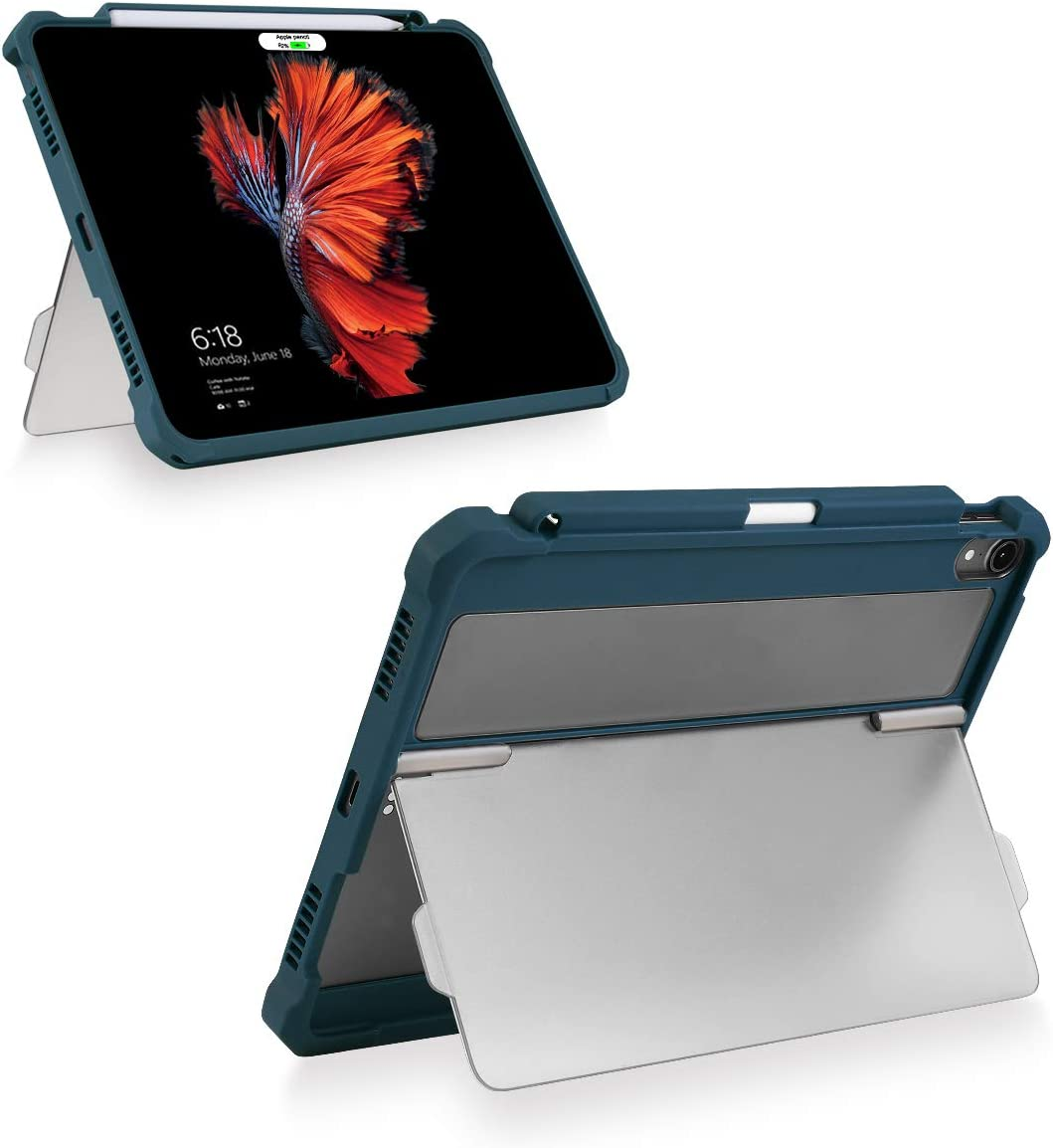 """Valkit iPad 9.7 Case 2018/2017 iPad 6th/5th Generation Case,iPad Air Case, iPad Air 2 Cover, iPad Pro 9.7 Case, Protective Smart Stand Rugged Armor Cases with Apple Pencil Holder for iPad 9.7"""", Blue"""