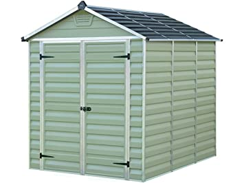 Viva Green 1174 _ 702917 abrigo de jardín con tejado translúcido policarbonato/PVC VERDE 4, 5 m² 230 x 185 x 217 cm: Amazon.es: Jardín