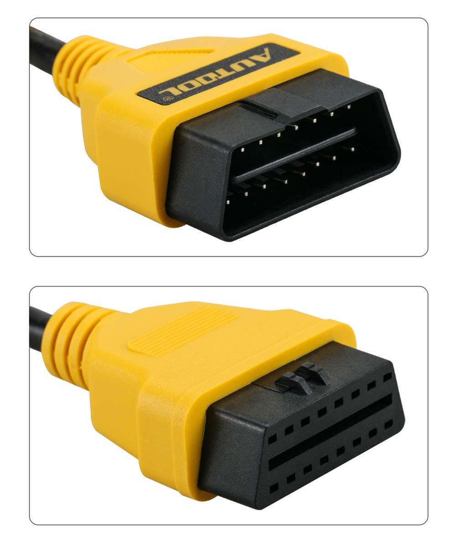 Noir Autool Afficheur Voiture Head Up Display HUD T/ête Haute Affichage OBD2 Intelligent Num/érique Survitesse