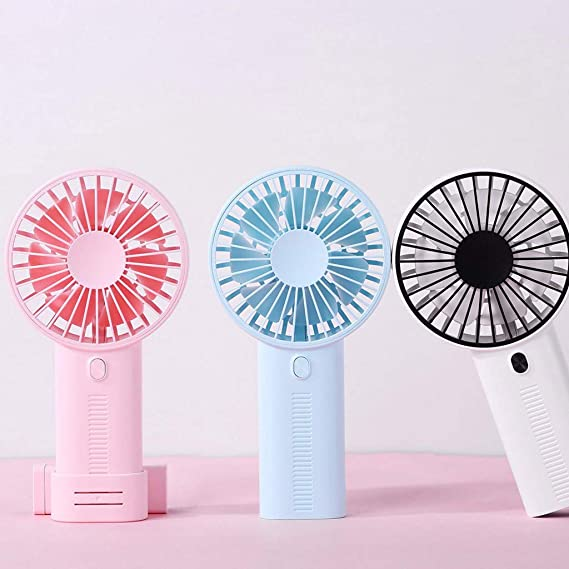 JiaMeng Ventilador Ventilador de Mesa Pequeño Portátil y Silencioso, portátil portátil Recargable portátil con Ventilador de enfriamiento Mini Ventilador: ...