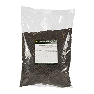 JustIngredients Essentials Black Peppercorns 1 kg