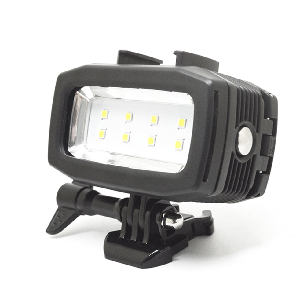 Underwater Light for GoPro Hero 6/5s/5/4s/4/3+/3, 30m Waterproof Diving Camera Light with LEDs of High Brightness 600LM Rechargeable