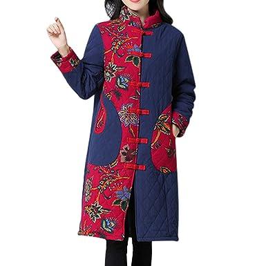 SEWORLD Winterjacke Steppjacke Mantel Damen Heißer