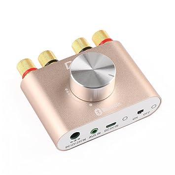 Amplificador de sonido de DROKreg, mini bluetooth de 30W, con dos canales estéreo,