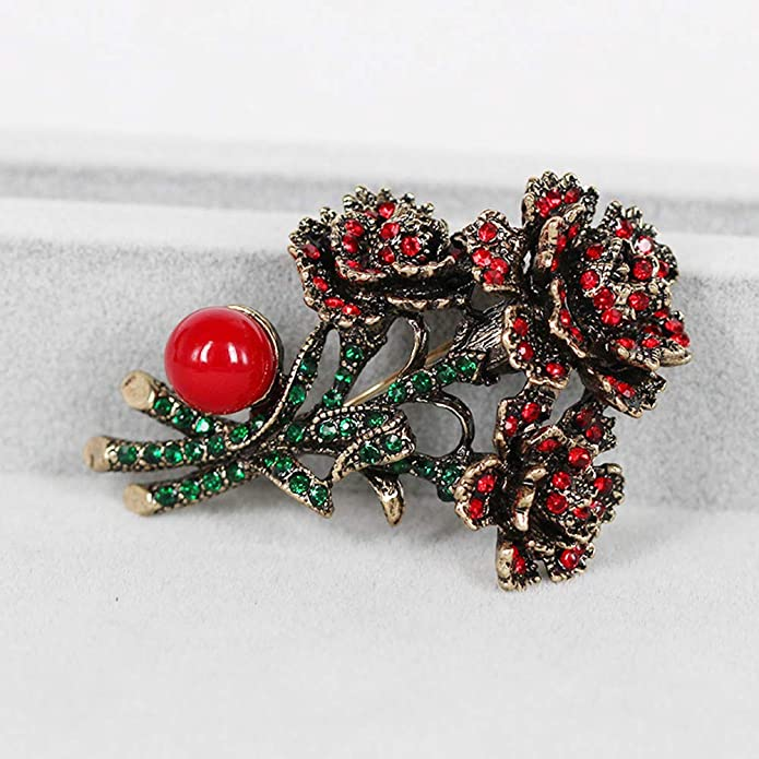 9cf531ce4 Amazon.com: FERVENT LOVE Flower Brooch Bouquet Pins for Her: Jewelry