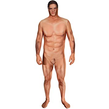 Amazon.com: MORPHSUIT Naked Censored Hombre Real Medium ...