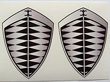 amazon com 2 koenigsegg gray grey badge die cut decals automotive