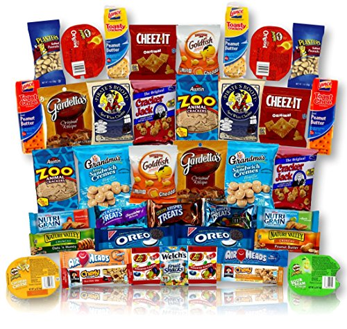 [Snack Variety Care Package Gift Box (40 Count) - College Students, Military, Work or Home - Over 3 Pounds of Snacks!] (2.12 Ounce Package)