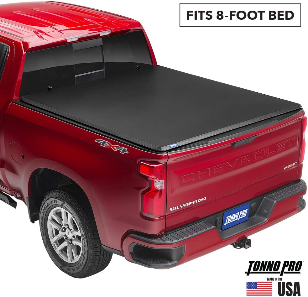 Tonno Pro Tonno Fold, Soft Folding Truck Bed Tonneau Cover | 42-204 | Fits 2009-18, 19/20 Classic Dodge Ram 1500/2500/3500 8' Bed