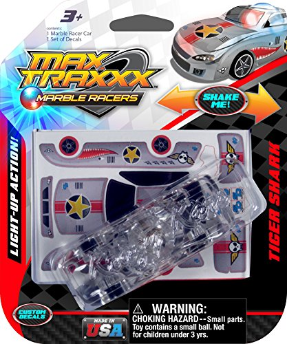 Shark Casting Kit (Max Traxxx Tiger Shark Light Up Marble Tracer Racer Gravity Drive 1:64 Scale Car)