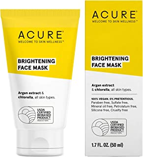 product image for ACURE Brightening Face Mask | 100% Vegan | For A Brighter Appearance | Argan Extract & Chlorella - Detoxes, Conditions & Moisturizes | All Skin Types | 1.7 Fl Oz