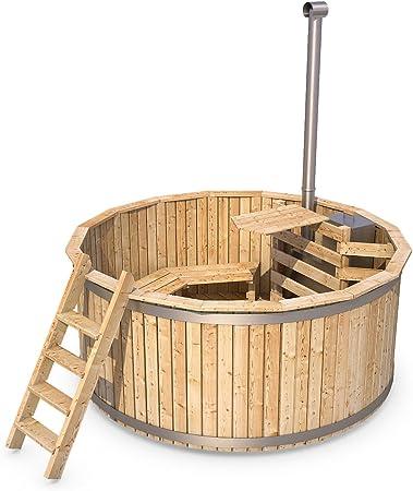 Badezuber Badefass Holz Badetonne 190 Oder 240 Cm 190 Cm Amazon