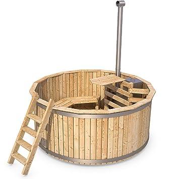 Berühmt Badezuber Badefass Holz Badetonne 190 oder 240 cm (190 cm): Amazon &HH_87