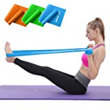 Hoocan Resistance Bands Elastic Exercise Bands Set for Recovery, Physical Therapy, Yoga, Pilates, Rehab,Fitness,Strength Trai