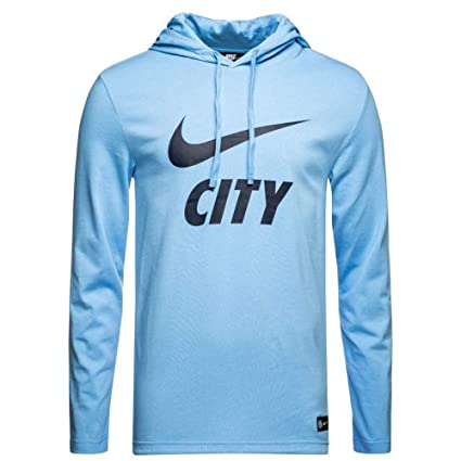 051feef4 Amazon.com : Nike 2018-2019 Man City Core Hooded Top (Blue) - Kids ...