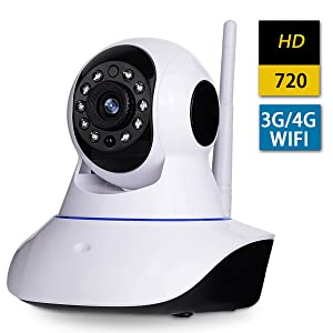 AMKATO HD 720P Wireless IP camera H.264 WIFI IP Security Home Sureillance Camera with P2P Night Vision Baby Monitoring