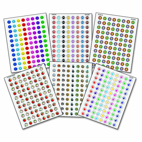 UPC 014467090290, Teacher Created Resources 9029 Teacher Created Resources Mini Stickers Variety Pack, 6 Designs