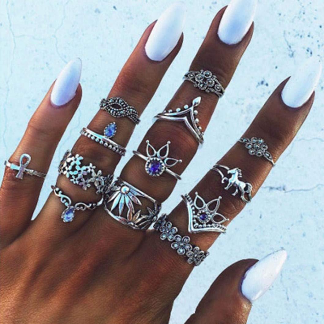 Which Hand Wedding Ring Female.Amazon Com 13 Pack Women Wedding Ring Set Girl Female Diamond