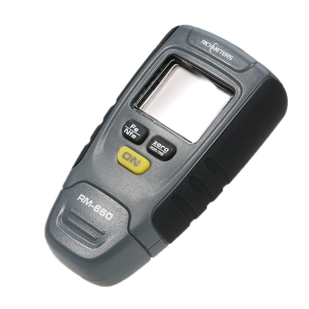 Grandey RM660 Digital Paint Coating Thickness Gauge LCD feeler gauge Tester Fe/NFe 0-1.25mm for Car Instrument Iron Aluminum Base Metal by Grandey (Image #8)