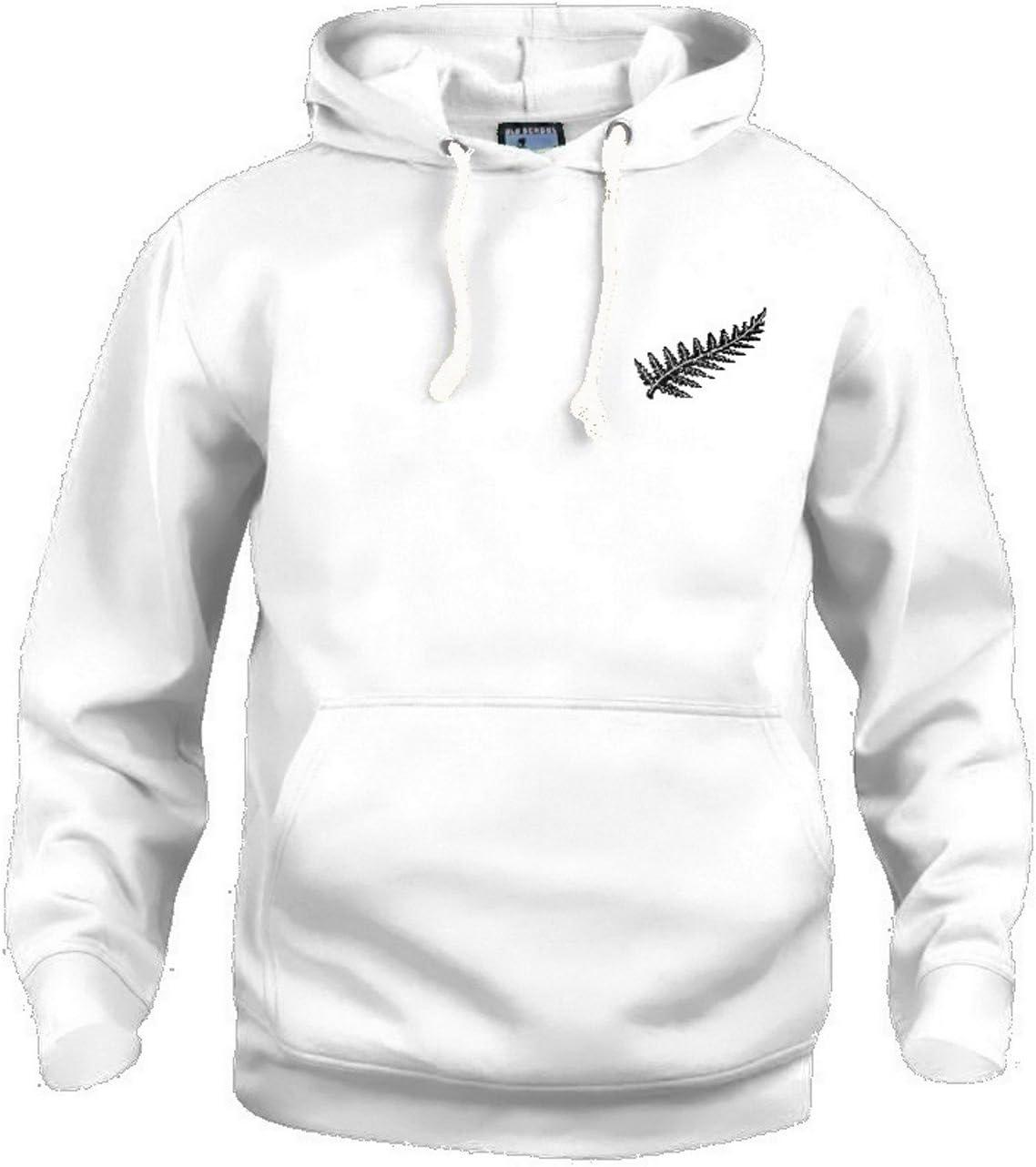 Retro Nueva Zelanda Nacional Polo Rugby Logotipo Bordado Negro ...