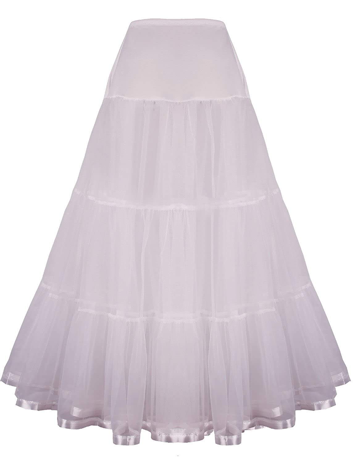 Crinoline Skirt | Crinoline Slips | Crinoline Petticoat Floor Length Petticoat Long Underskirt for Formal Dress $14.99 AT vintagedancer.com