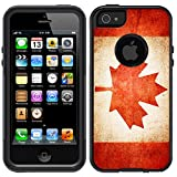 Skin Decal for OtterBox Commuter Apple iPhone 5 & iPhone 5S Case - Canada Vintage Flag