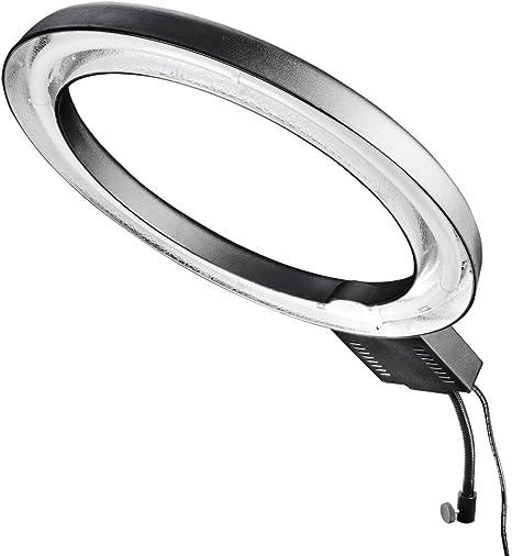 puissance 65/watts, diam/ètre int/érieur env. 37/cm, temp/érature de couleur 5400/K Walimex Lampe circulaire 65/W