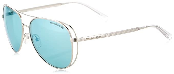 e0ca509f5f96 Michael Kors LAI MK 1024 SHINY SILVER/BLUE women Sunglasses: Amazon ...