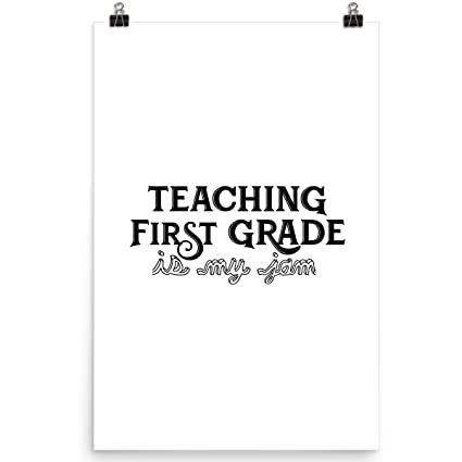 Amazon com: DoozyGifts99 Teaching First Grade is My Jam
