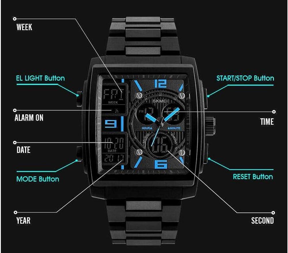 Orologi da polso Orologio Digitale Elettronico A Led Impermeabile Da Uomo Sportivo Alla Moda Nero