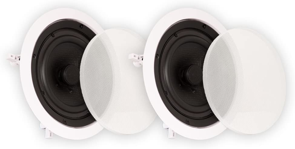 "Theater Solutions TS65C In Ceiling 6.5"" Speakers Surround Sound Home Theater Pair"