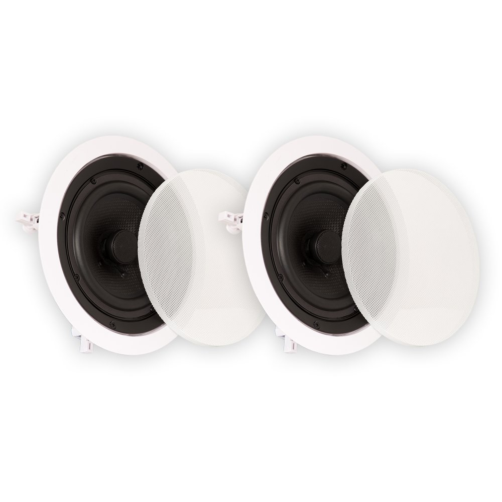 Theater Solutions TS65C 6.5-Inch Kevlar In-Ceiling Speakers, White