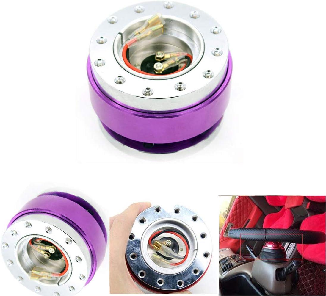TASAN RACING Universal 6 Hole Steering Wheel Quick Release Hub Adapter Snap Off Boss Kit Purple