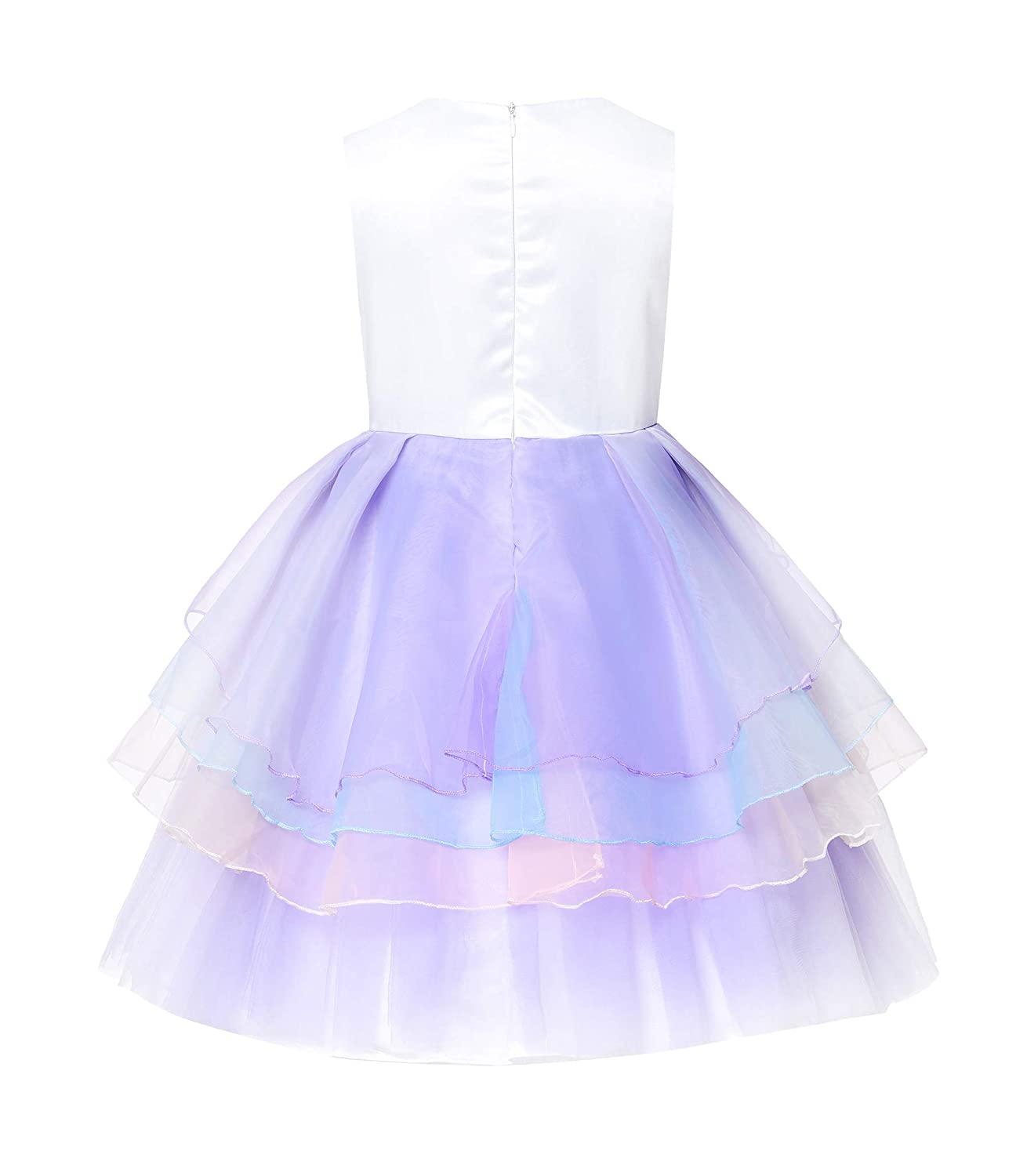 be8c93dce28e4 JerrisApparel Girls Unicorn Tulle Dress Sleeveless Party Costume Evening  Gowns JEA2319