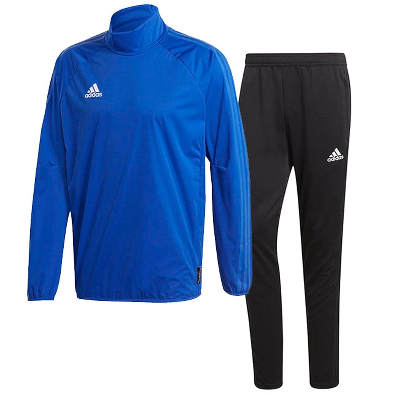 アディダス(adidas) CONDIVO18 レインピステトップ & トレーニングパンツ(ボールドブルー/ブラック) DJV40-BQ6544-DJU99-BS0526 B0798CN6MYボールドブルー×ブラック 日本 J/L-(日本サイズL相当)