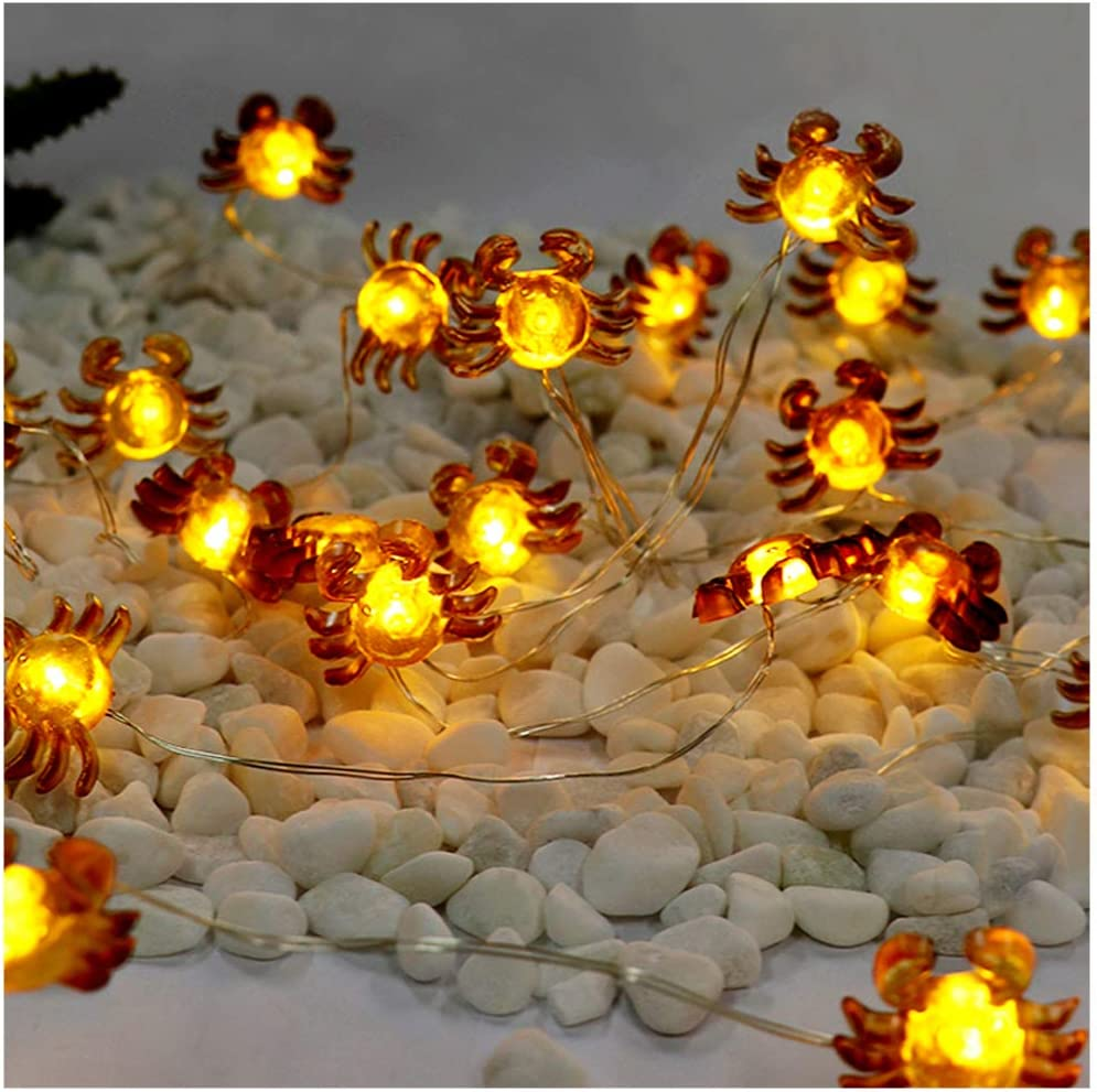 Easter LED String Lights Crab Sea Beach Theme 10ft 30 LEDs Battery Operated Copper Wire Night Light Waterproof Indoor Bedroom Children Girls Room Wall Décor Party Decorations